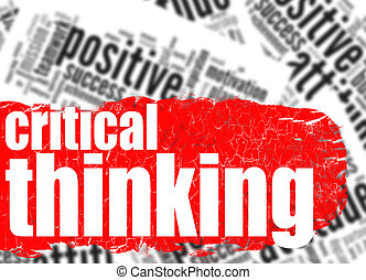 Word cloud critical thinking image with hi-res rendered...
