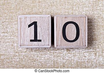 figure 10 wooden cubes - a figure 10 wooden cubes