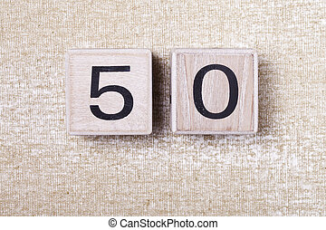number fifty 50 wooden cubes - a number fifty 50 wooden...