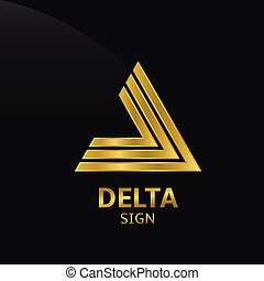 Delta sign - Golden Delta sign Logo for your company Vector...