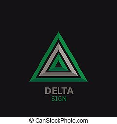 Delta sign, Logo for your company Vector illustration