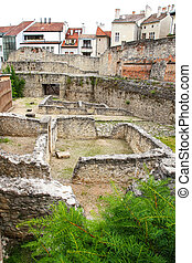 Archeological site in Sopron, Hungary, Europe