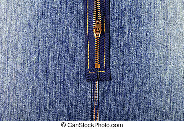 Jeans zipper close up
