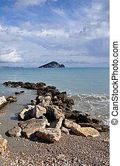 ionian sea and blue sky horizon - Ionian sea and blue sky...