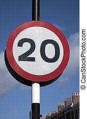 Twenty Speed Sign in Urban Setting