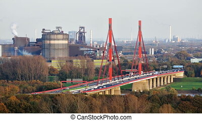 Motorway Bridge And Steel Industry - View to the A42...