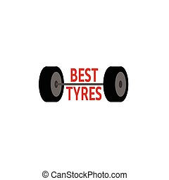 Tyre logo - Best tyres logo on the white background Vector...