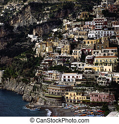 Positano - View of Positano on Amalfi Coast
