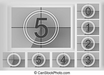 countdown - a historical countdown screen template with...