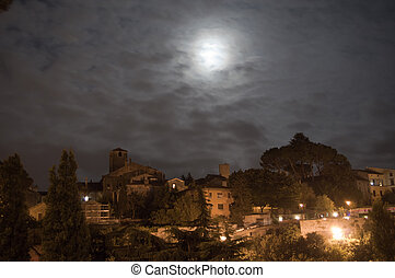 Blue moon - the July 31, 2015 blue Moon over Viterbo, Italy...