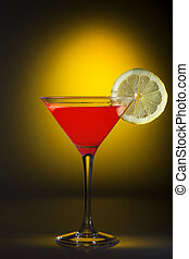 Cosmopolitan Coctail - Glass of cosmopolitan coctail on a...