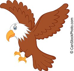 Eagle flying - Vector Illustration of Eagle flying