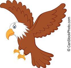 Eagle flying - Vector Illustration of Eagle flying