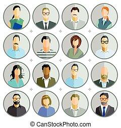 Personen punkten.eps - People breast Portrait