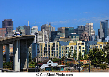 San Francisco - View of downtown San Francisco on a sunny...