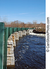 Winter runoff - Winter rains keep the Blackstone River...
