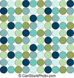 Circle, round seamless pattern White isolated background,...