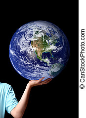 World in the palm of your hands - planet earth - The whole...