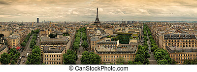 Paris panoramic aerial view france