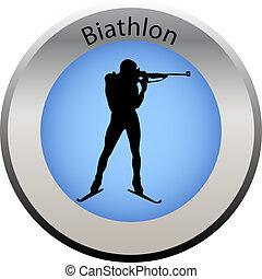 winter game button biathlon