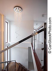 Railing and balustrade - Image of chromed railing and glass...