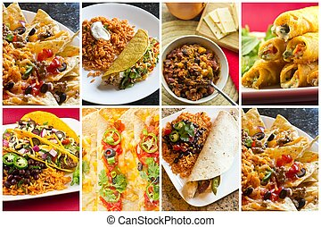 Mexican Food Collage - Collage of various Mexican dishes...