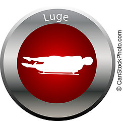 winter game button luge