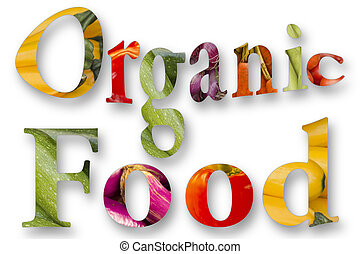 Organic Food Graphic - Healthy eating themed vegetables...