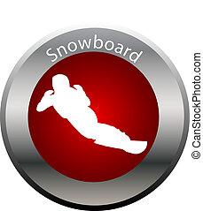 winter game button snowboard