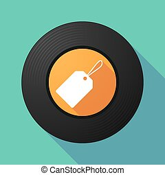 Vinyl record with a label