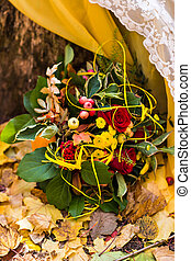 beautiful autumn bouquets of flowers