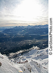 Winter mountain view from the Austrian Alps, Innsbruck