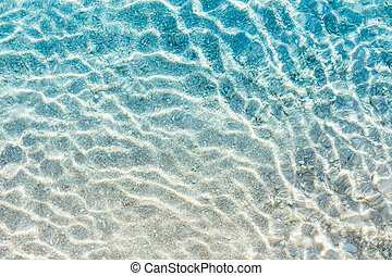 Transparent water of sea beach - Crystal clear turqoise...