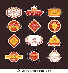 Premium Quality Guarantee Labels and Badges