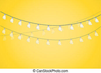 String of Lights. hanging light bulbs