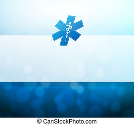 medical symbol and lights illustration design background
