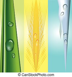 seasonal background with water drop - a vector illustration...