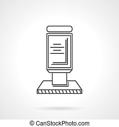 Citylight black line vector icon - Single black flat line...