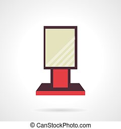 Red city-light flat vector icon - Flat color design vector...