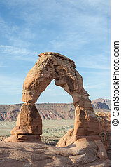 Delicate Arch and Light Blue Sky - The famous Delicate Arch...