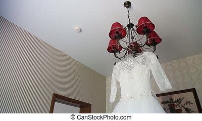 Luxury wedding dress ready for bride.