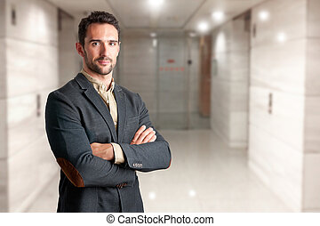 Casual Business Man - Casual business man with arms crossed