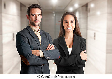 Casual Business Man and woman - Casual business man and...