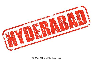 HYDERABAD red stamp text on white