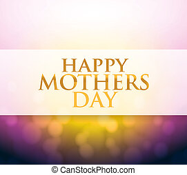 Happy Mothers Day bokeh light sign illustration design...