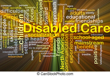 Disabled care background concept glowing - Background...
