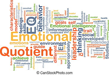 Emotional Quotient EQ background concept - Background...