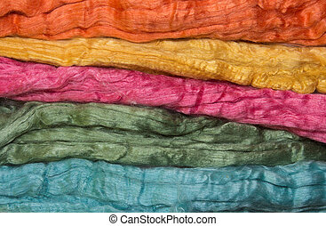 Merino and silk fibers, colorfull fleeces for spinning and...
