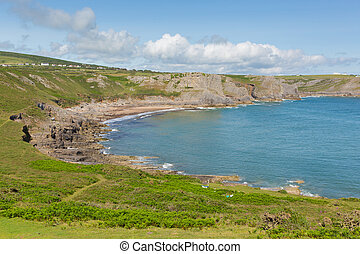 The Gower coast Fall Bay Wales uk - Fall Bay The Gower...