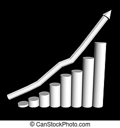 Vector illustration of 3D  infografic. Colorful statistics template growth chart vector. Abstract infografics. Vector eps10 illustration